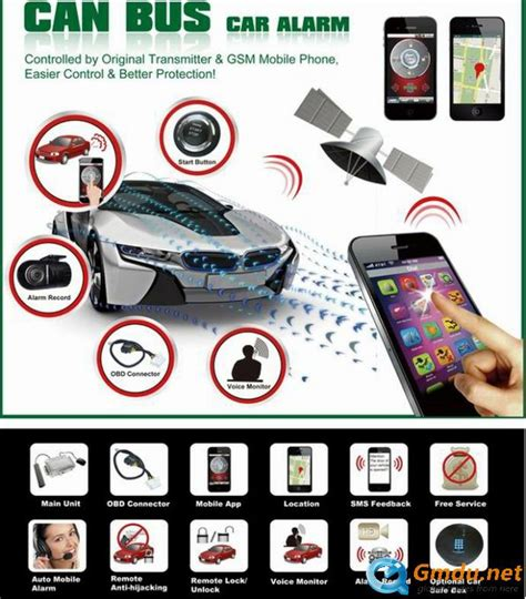 Alarm Mobil Honda can gsm gps 2 way car alarm security cfm001 fama