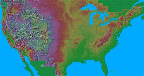 map usa relief maps