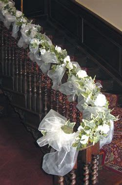 Image result for wedding church railing decorations