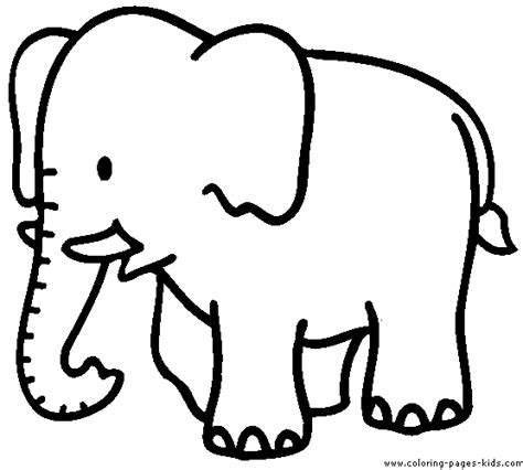 free coloring pages of elephant trunk