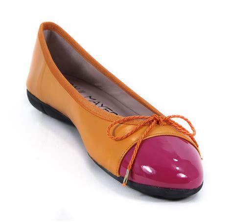 orange flats shoes paul mayer bravo patentleather fuschia nappa orange flats