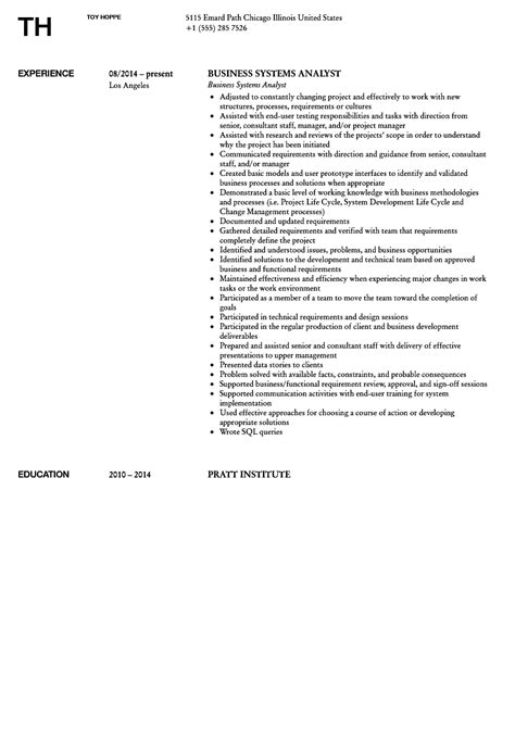 it business analyst resume samples sample entry level free ict cv