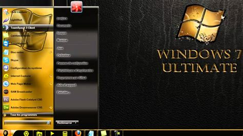 goldfish themes for windows 7 theme windows 7 gold premium by jucarcu youtube
