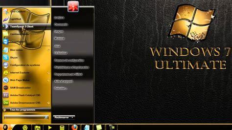 gold xp themes download theme windows 7 gold premium by jucarcu youtube