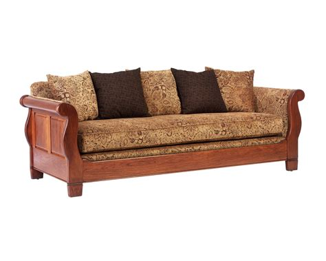 sleigh couch sleigh sofa amish furniture designed