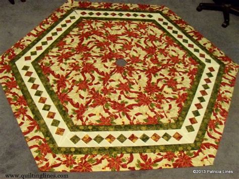 Free Tree Skirt Quilt Pattern by Free Tutorial Patchwork Border Tree Skirt By Lines