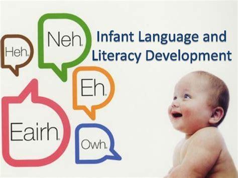 language development infant language and literacy development