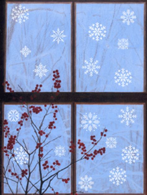28 best snowflake window stencils simple christmas