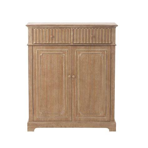 home decorators collection manor 50 in h washed oak shoe