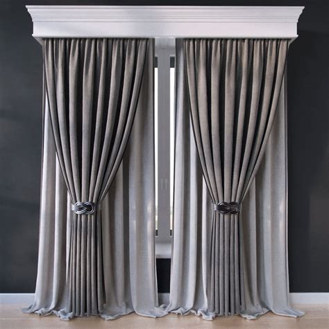 window curtain models curtain 14 3d model max obj fbx cgtrader com