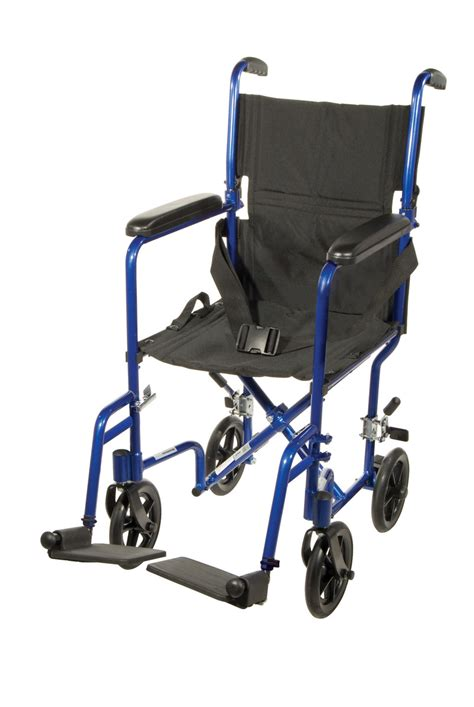Ultra Light Folding Chair Tc1 Atc17 Bl Lightweight Transport Wheelchair 822383133614