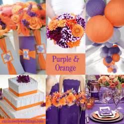 wedding cake purple and orange collections