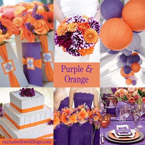 color combination for orange an orange color combination for your fall wedding