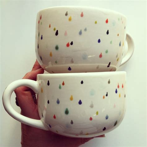 Drop Paint Mug drop latte mug set painted with lovely by sproutstudio 40 00 the sweetest of mugs