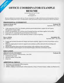 free office coordinator resume sle tips for resume job applica project coordinator resume