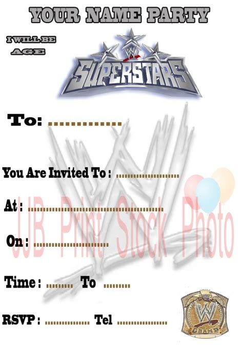 printable birthday cards wrestling 5 best images of free printable wwe birthday invitations