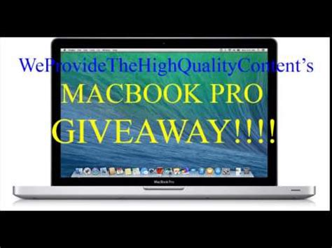 Apple Mac Giveaway - new march macbook pro giveaway macbook giveaway march 2015 free enter now youtube