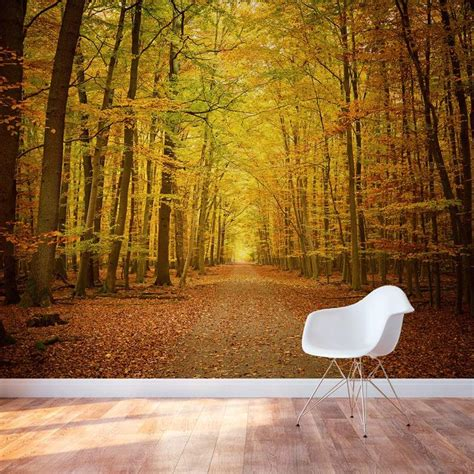 removable wall coverings so gorgeous autumn forest path wall mural wallpaper