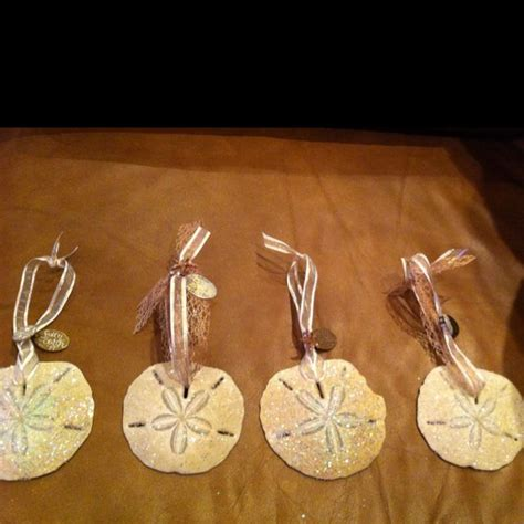 sand dollar christmas ornaments seashell craft ideas