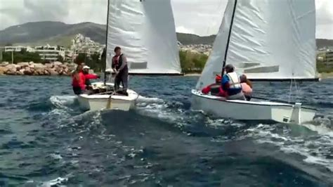 sailboat classes lightning sailboat class clinics voula spring 2014 youtube