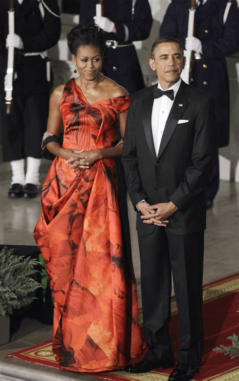 Political Fashion Obamas Dress by Obama S China State Dinner Dress By