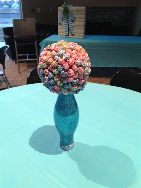 Baby Shower Centerpiece For Boy by Centerpieces For A Boys Baby Shower Quot Ready To Pop Theme Quot Diy Projects Trees
