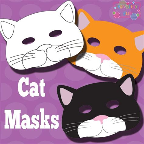 printable mask of cat printable cat mask and template to color mask template