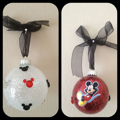 mickey mouse christmas ornaments xmas pinterest