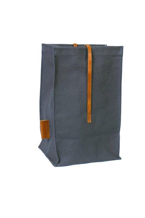 Lunch Bag Handmade waxed canvas lunch bag handmade real leather lunch