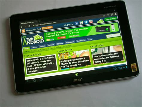 Tablet Android 700 Ribu acer iconia tab a700 unboxing and initial on review