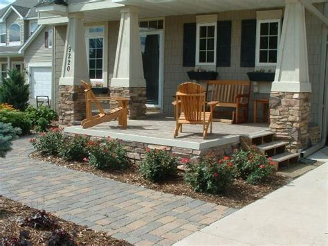 patio porch for renovated rancher add rock based pillars and extend