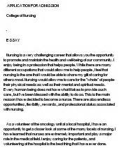Sample Essay Why I Want To Be A Nurse Why I Want To Become A Nurse At Essaypedia Com