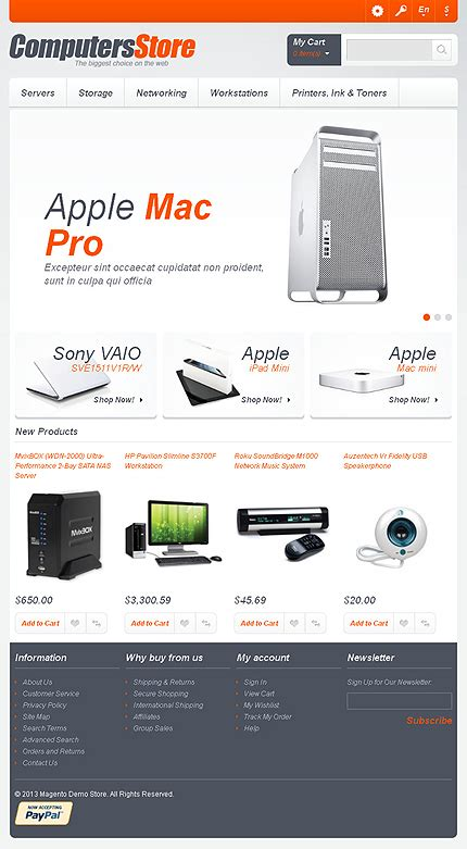 magento themes computer store computers store magento theme 43371