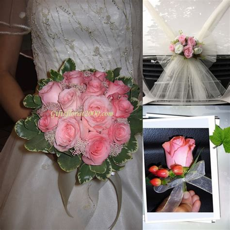Wedding Flower Decoration Packages by Wedding Flowers Car Decor Wedding Package 2
