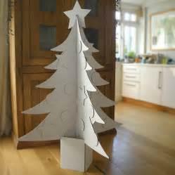 christmas tree cardboard pattern giant cardboard christmas tree by letterfest