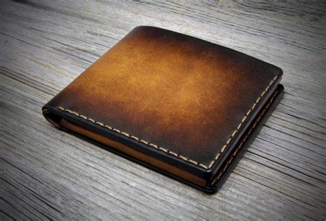 Handmade Mens Leather Wallet - mens wallet with coin pocket handmade from odorizzi on etsy