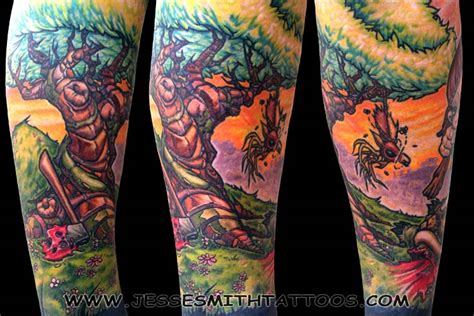 cartoon tree tattoo ghostprint gallery tattoos fantasy little tyler tree