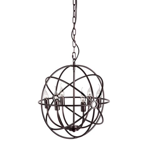 iron orb chandelier hazenite rustic iron orb chandelier moss manor a design
