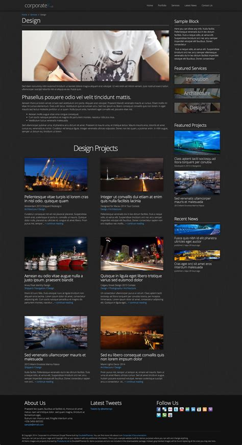 drupal theme zen bootstrap corporate x bootstrap 3 business drupal theme by
