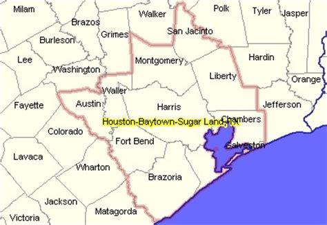 texas msa map houston sugar land baytown tx msa demographic economic situation outlook