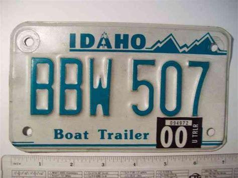 idaho boat license 2000 idaho boat trailer license plate bbw 507