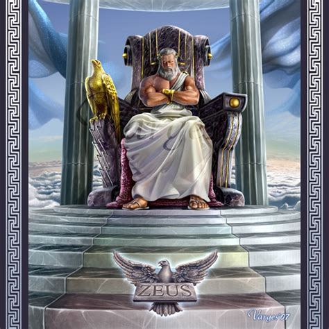 zeus god of the olympics and supreme ruler of mt olympus