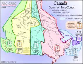 canadian time zones canadian facts cka