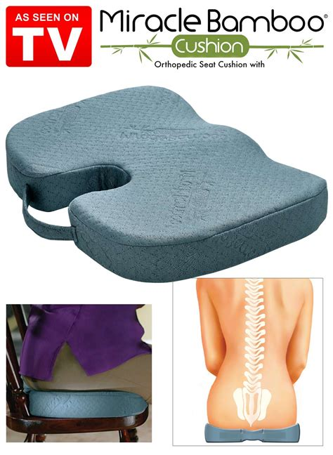 Cushion Support As Seen On Tv by Miracle Bamboo Cushion Drleonards