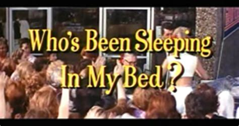 who s been sleeping in my bed stojo who s been sleeping in my bed 1963