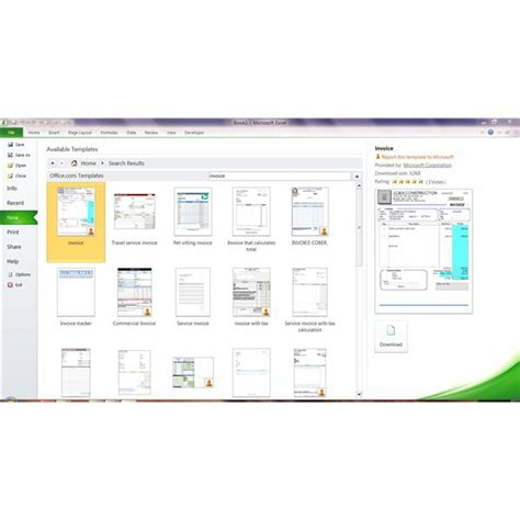 ms office templates best photos of ms excel 2010 invoice templates microsoft