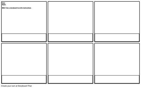 Blank Instruction Storyboard Storyboard By Mrwoolstencroft Keynote Storyboard Template