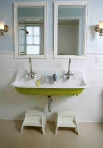 bathroom trough sink faucet kohler brockway sink cottage bathroom upscale