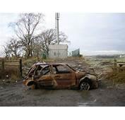 Burnt Out Car Beside Calderside Road  Geographorg