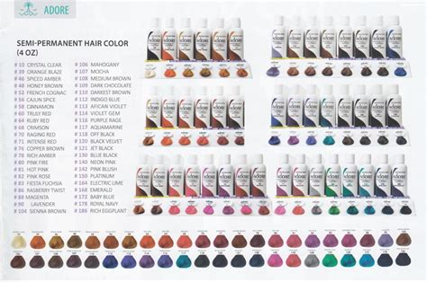 %name Semi Permanent Hair Color Brands   Adore Hair Color 4oz